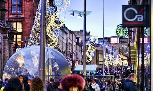 Christmas shopping in Glasgow